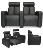 Home Theater Furniture Houston theaterseatstore magnolia 3 seat curved leather home theater seating black angle Home Theater Seating In Houston Area Recliners Loungers In Cool Colors And Styles