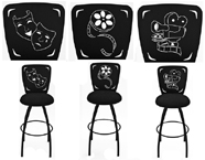 home theatre stools, home theater rockers, leather home theater seating, home theater seating furniture, custom home theater seating, lounger