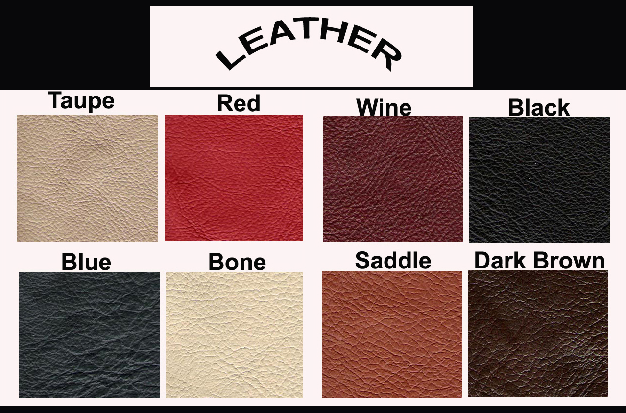 Click Here To View Leather Colors