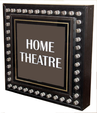 Image of ILLUMINATED HOME THEATER SIGN