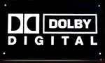 Metal DTS and Dolby Digital Sound Signs